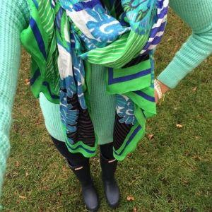 foulard union square vert printemps stella & dot